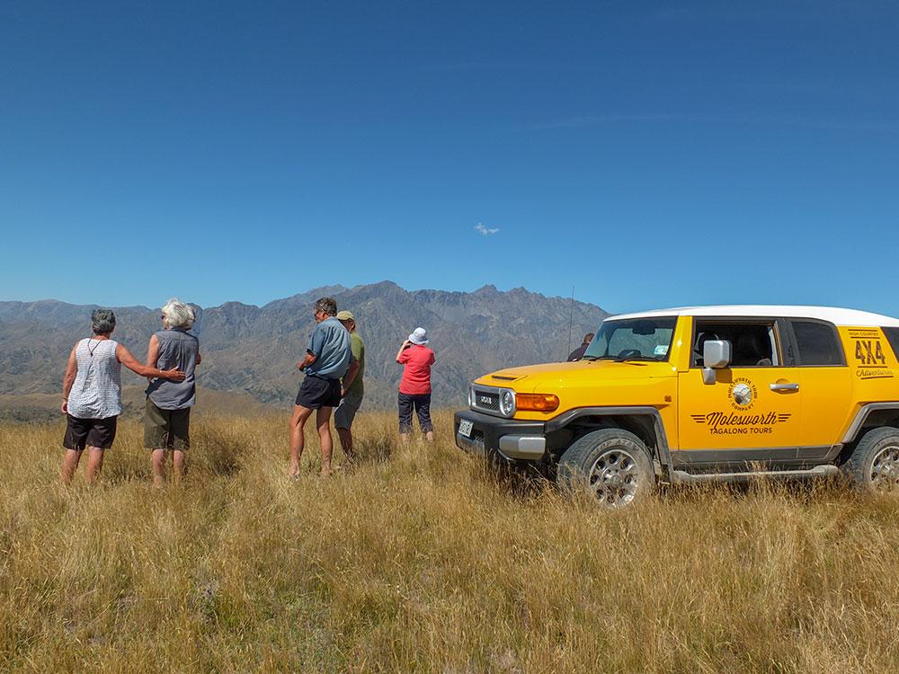 Mountain views on 4WD adventure tour