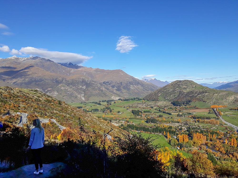 Central Otago scenery autumn on our Central Otago in Autumn Tour