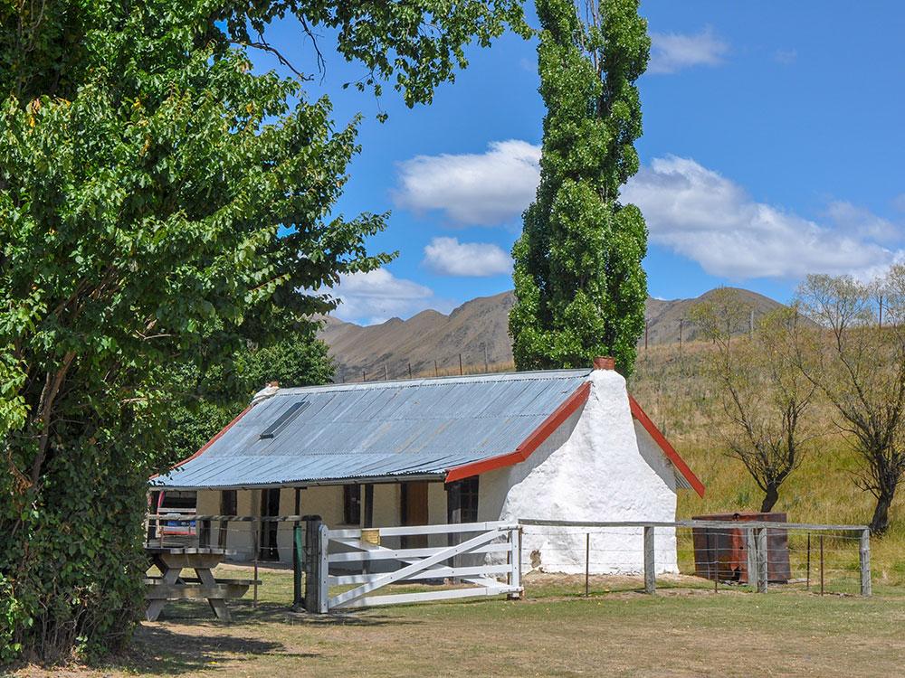 Historic cottage at Molesworth Station