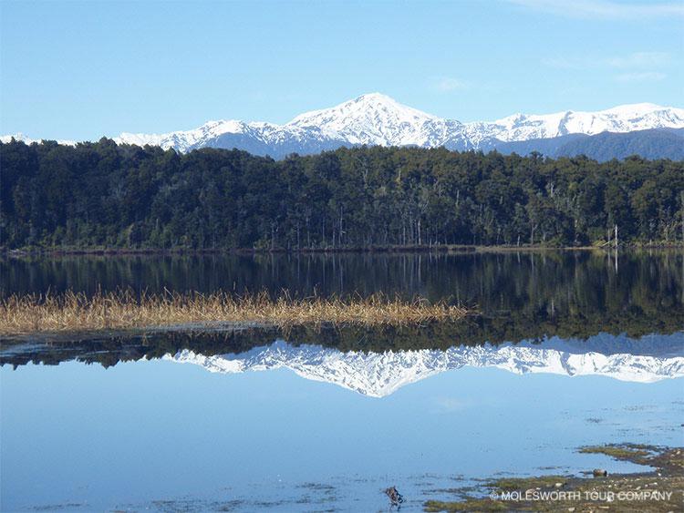 Natural scenery Lake Mahinapua West Coast of South Island