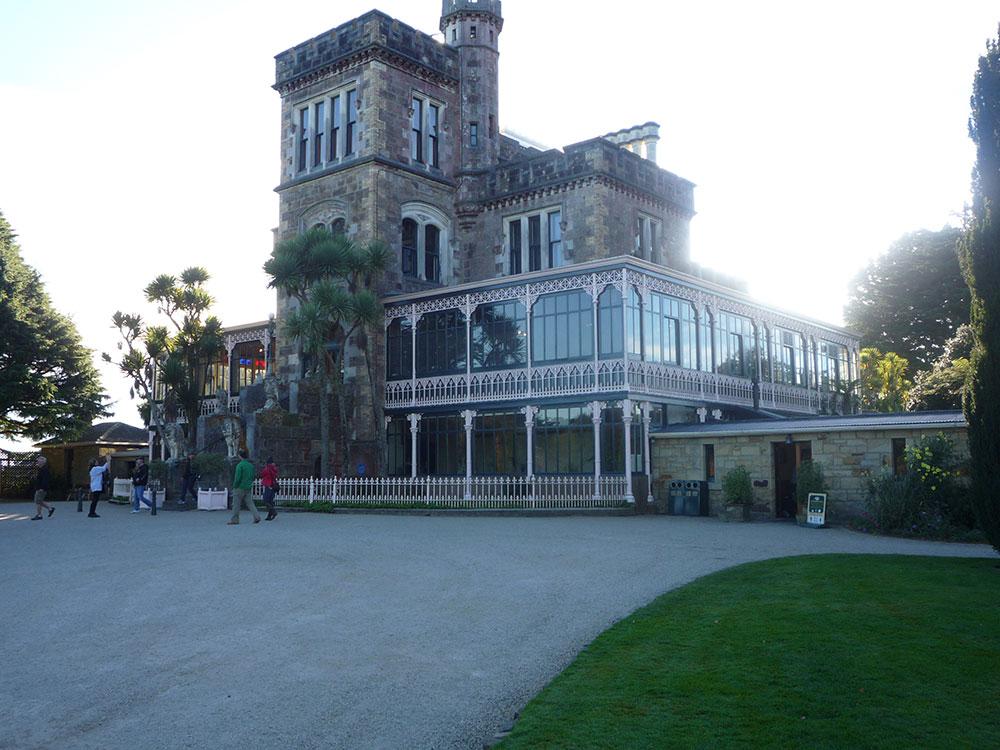 Tour group visiting Larnach Castle Otago Peninsula